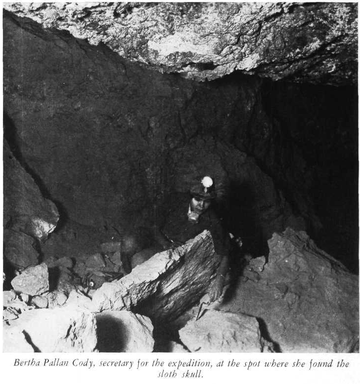 Bertha Cody at Gypsum Cave