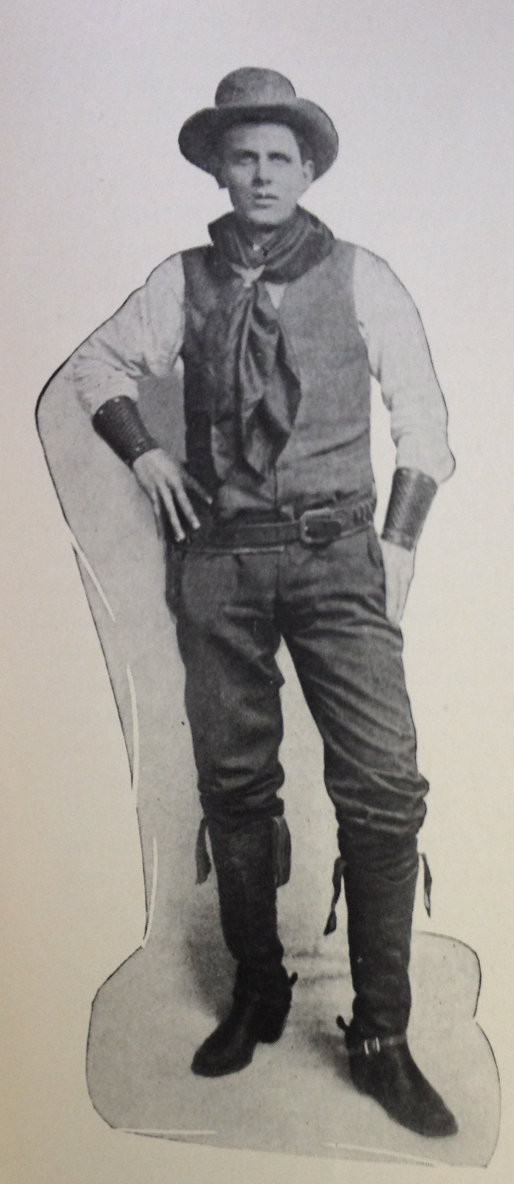 M. Raymond Harrington in his exploring outfit