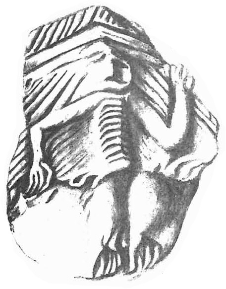 Ceramic sherd from New York state. Source: Beauchamp 1898.