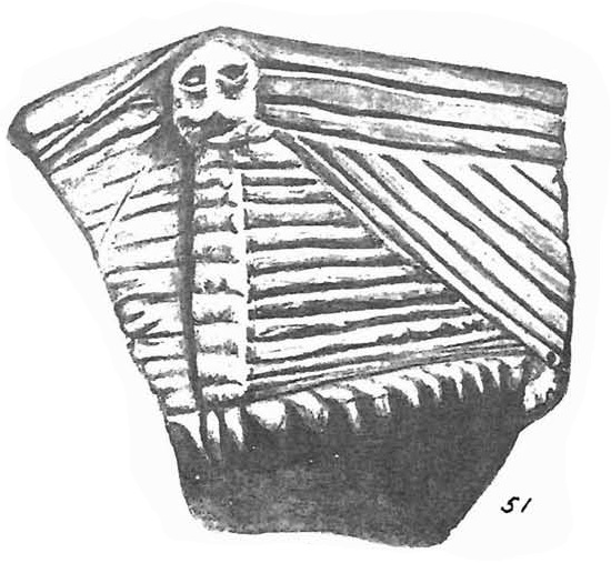 Ceramic sherd from New York state. Source: Beauchamp 1898
