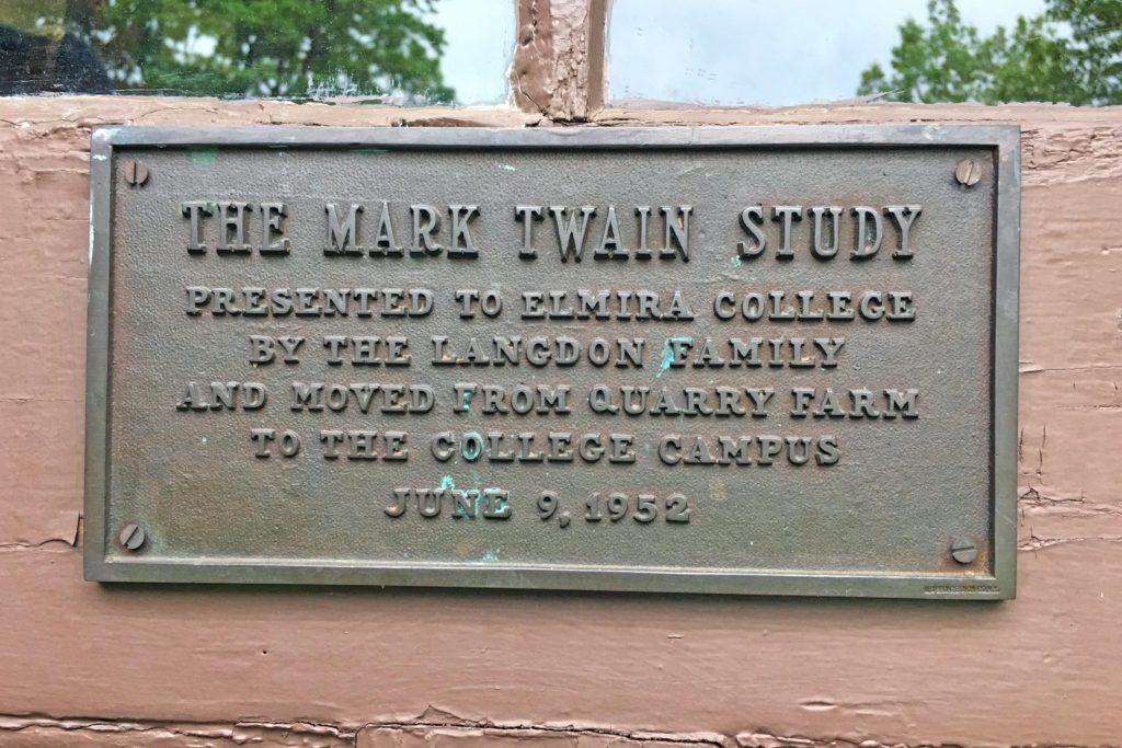 Twain Study Plaque