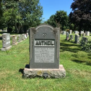 Antheil Family Tombstone, Riverview Cemetery, Trenton, NJ