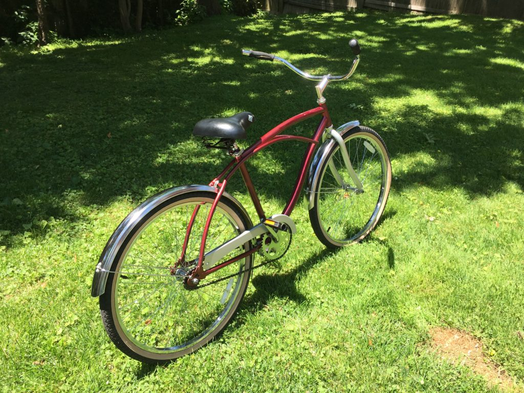 Red cruiser bike