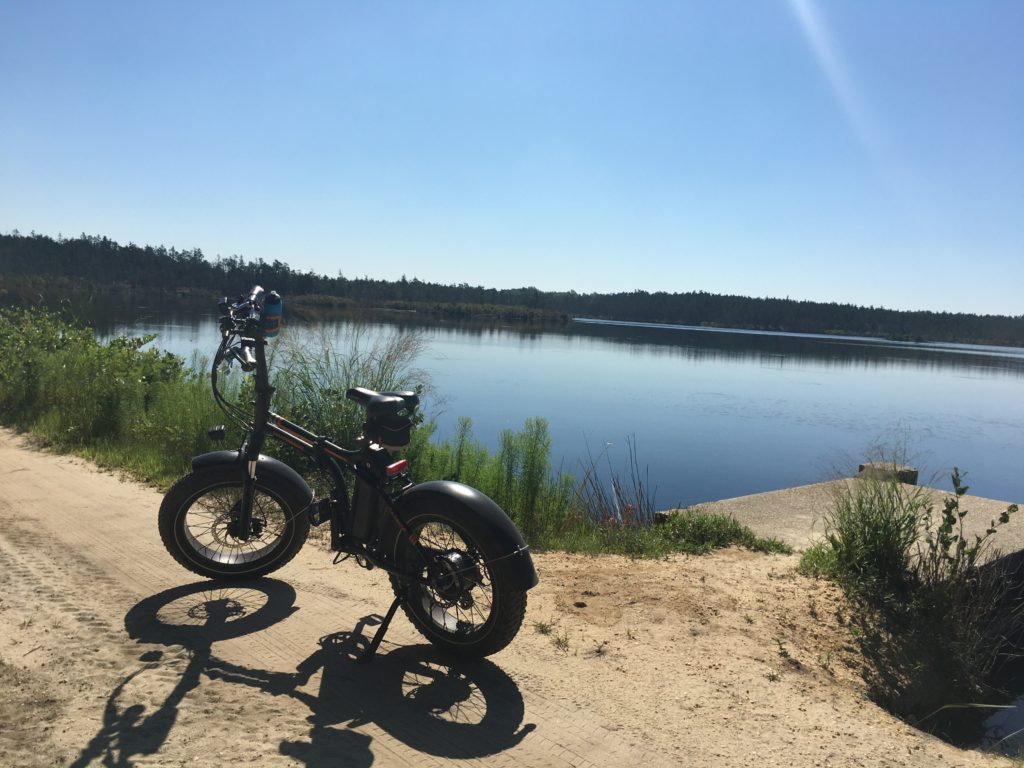 E-bike by cranberry bog