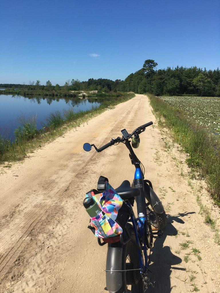 E-bike on sand road
