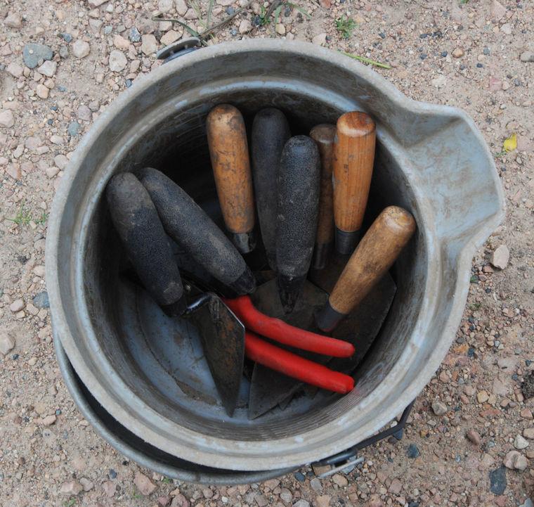 Bucket of trowels