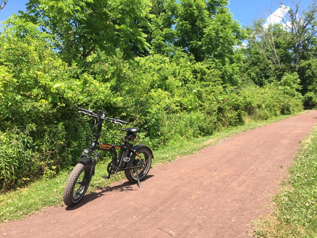 An e-bike on a trail